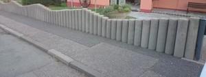Betonpalisaden / gereinigt u. hydrophobiert